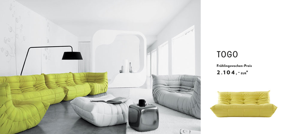 Ligne roset multy togo everywhere aktion drifte wohnform for Ligne roset angebote