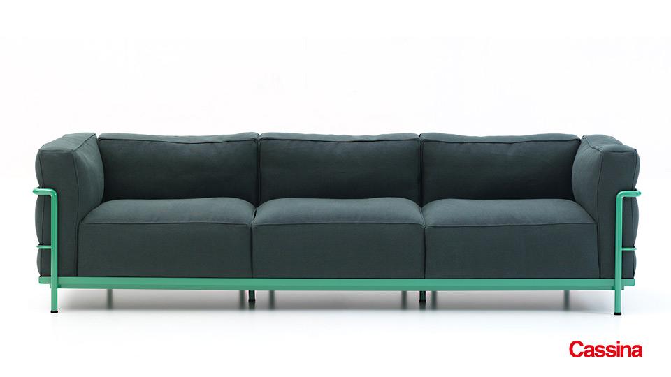 Sofa und Sessel LC3 Le Corbusier Cassina - Drifte Wohnform