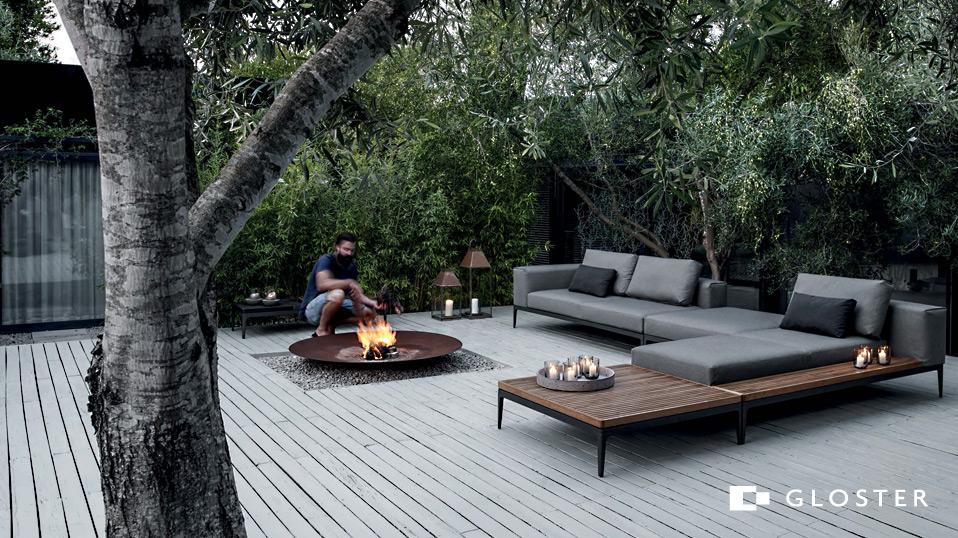Gloster Grid Outdoor Lounge - Drifte Wohnform