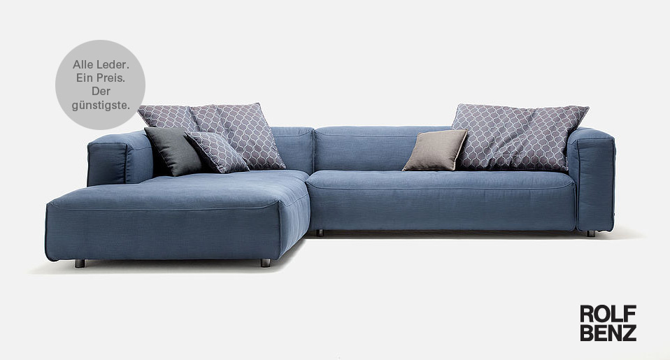 Die Luxuriös Großzügige Sitzfläche Und Die Weiche Anmutung Von Rolf Benz MIO  Verbreiten Lust Am Sitzen Und Laden Ein Zum Entspannen Und Loungen.