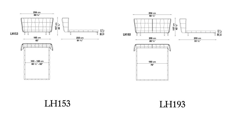 Technische Zeichnung Bett bb italia tisch the table technische daten drifte wohnform