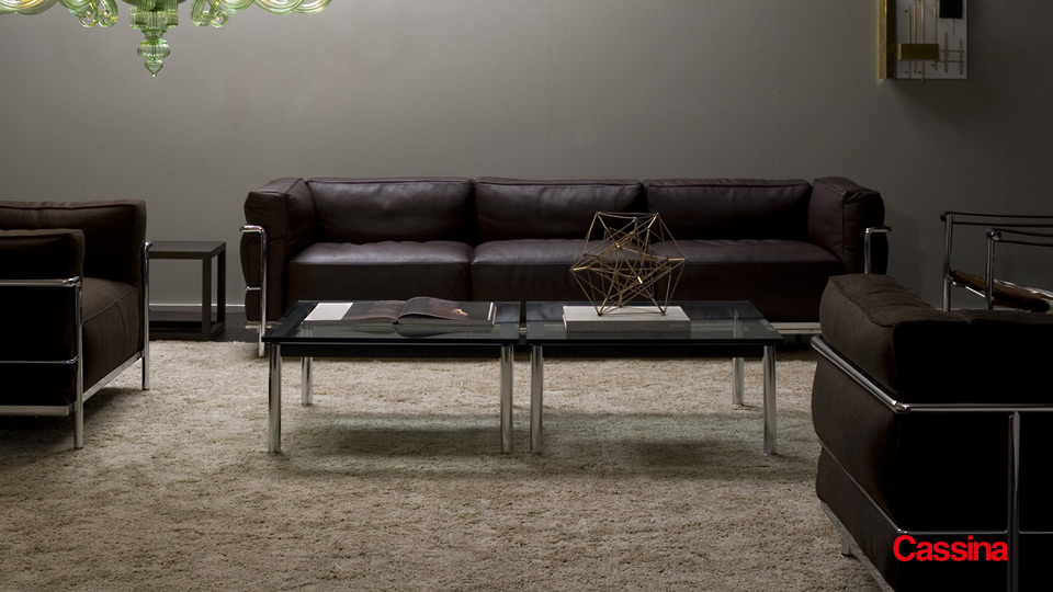 sofa und sessel lc3 le corbusier cassina drifte wohnform. Black Bedroom Furniture Sets. Home Design Ideas
