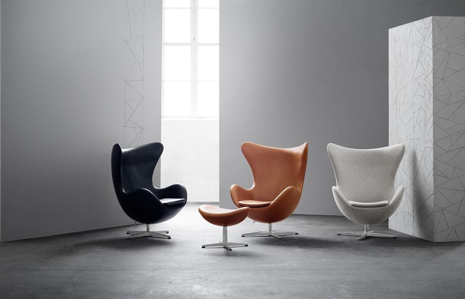 egg chair das ei von arne jacobsen fritz hansen drifte wohnform. Black Bedroom Furniture Sets. Home Design Ideas
