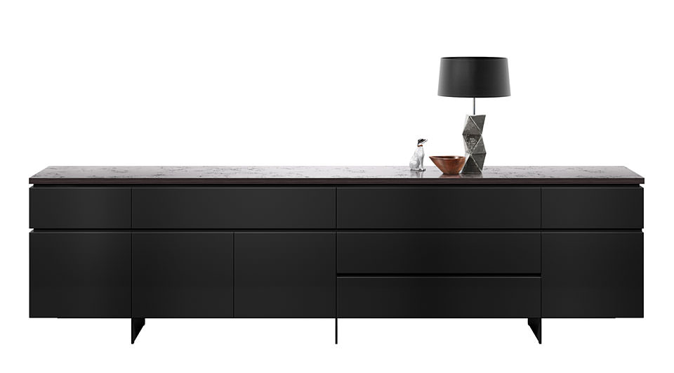 cube gap black concrete interl bke kommode bei drifte wohnform. Black Bedroom Furniture Sets. Home Design Ideas
