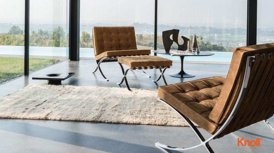 knoll international barcelona sessel drifte wohnform. Black Bedroom Furniture Sets. Home Design Ideas