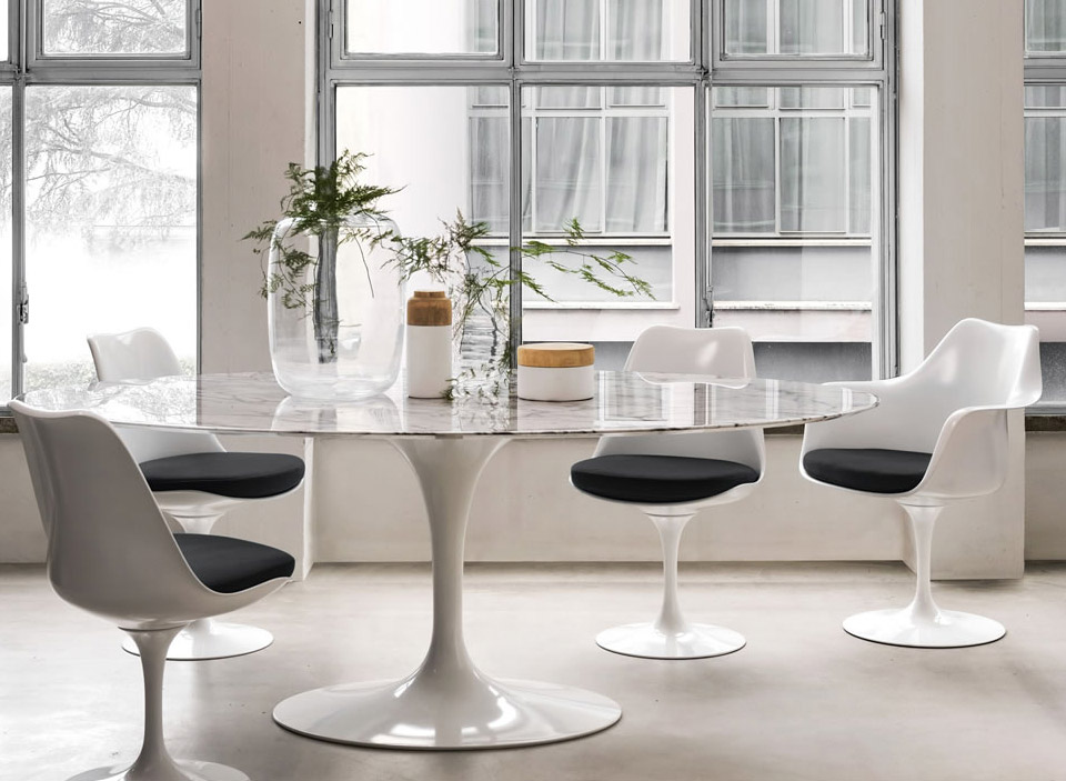 Knoll international saarinen tulip esstisch drifte wohnform for Esstisch glas oval