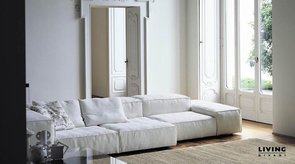 Living divani sofa extrasoft drifte wohnform for Made divani