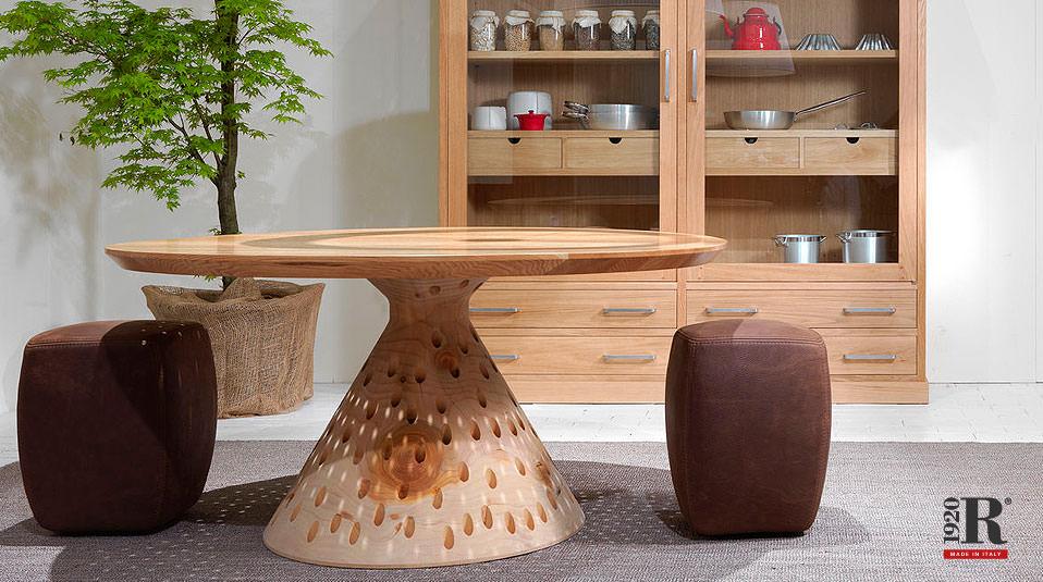 riva 1920 colino round tisch aus zedernholz drifte wohnform. Black Bedroom Furniture Sets. Home Design Ideas