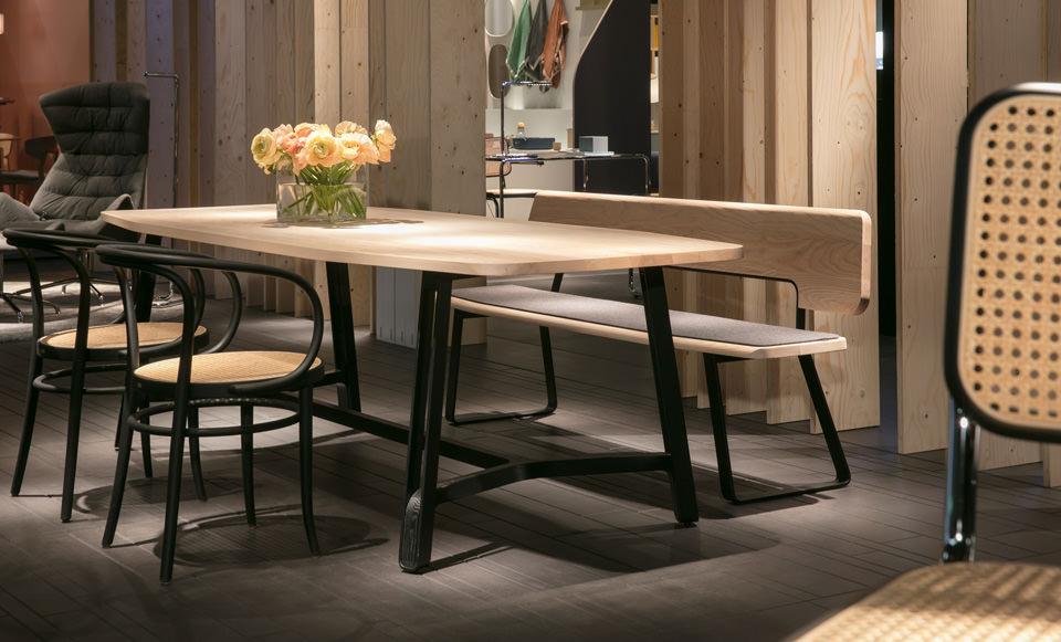 thonet esstisch s 1091 und s 1092 drifte wohnform. Black Bedroom Furniture Sets. Home Design Ideas