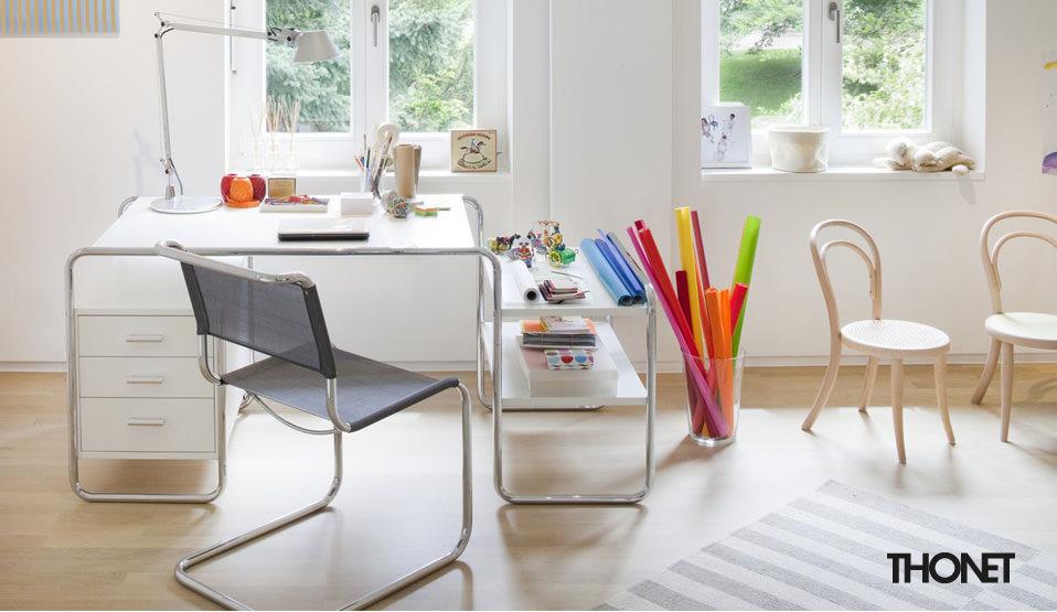 thonet s 285 schreibtisch drifte wohnform. Black Bedroom Furniture Sets. Home Design Ideas