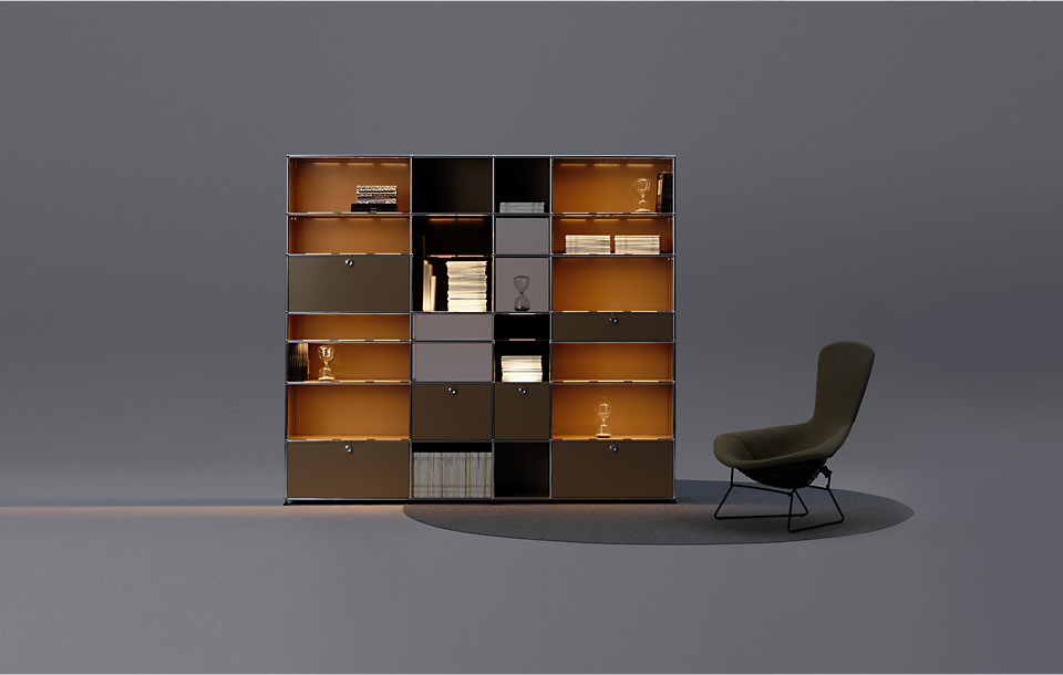 usm haller e am salone del mobile in mailand drifte wohnform. Black Bedroom Furniture Sets. Home Design Ideas
