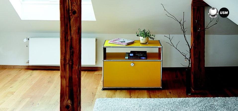 usm haller beistellm bel drifte wohnform. Black Bedroom Furniture Sets. Home Design Ideas