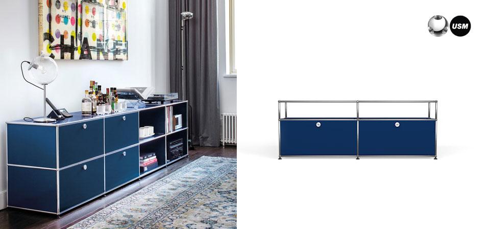 usm haller sideboard tv hifi m bel drifte wohnform. Black Bedroom Furniture Sets. Home Design Ideas