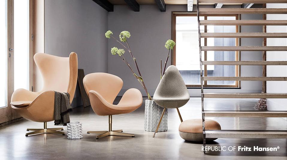 60 Jahre Ei Schwan Und Drop Von Arne Jacobsen Drifte Wohnform