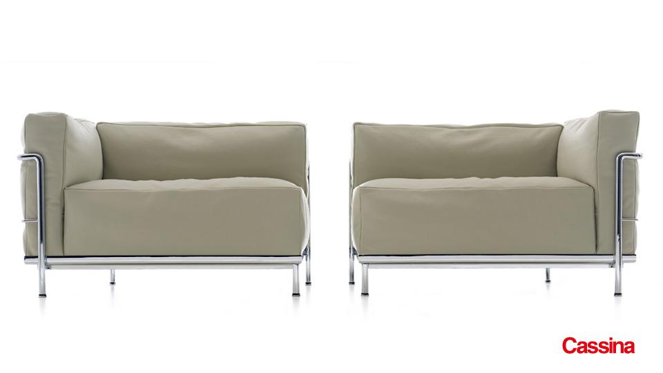 Sofa Und Sessel Lc3 Le Corbusier Cassina Drifte Wohnform