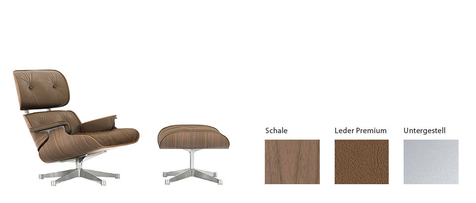 Eames Lounge Chair & Ottoman – neue Beauty-Version