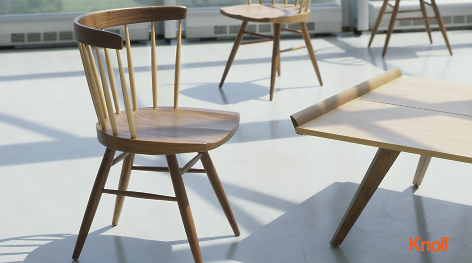 Knoll International Nakashima Straight Stuhl