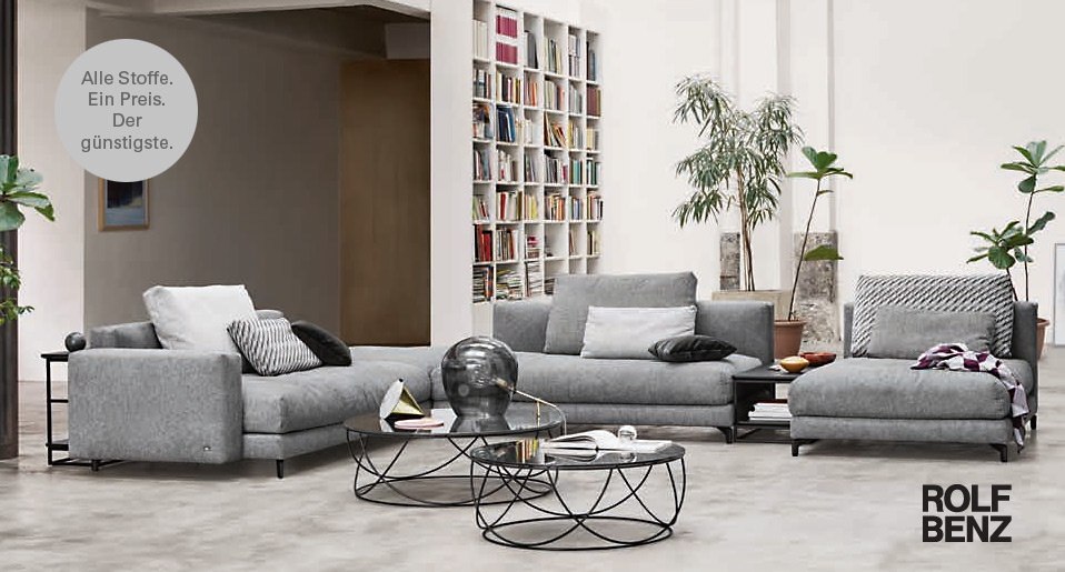 rolf benz sofa nuvola drifte wohnform. Black Bedroom Furniture Sets. Home Design Ideas