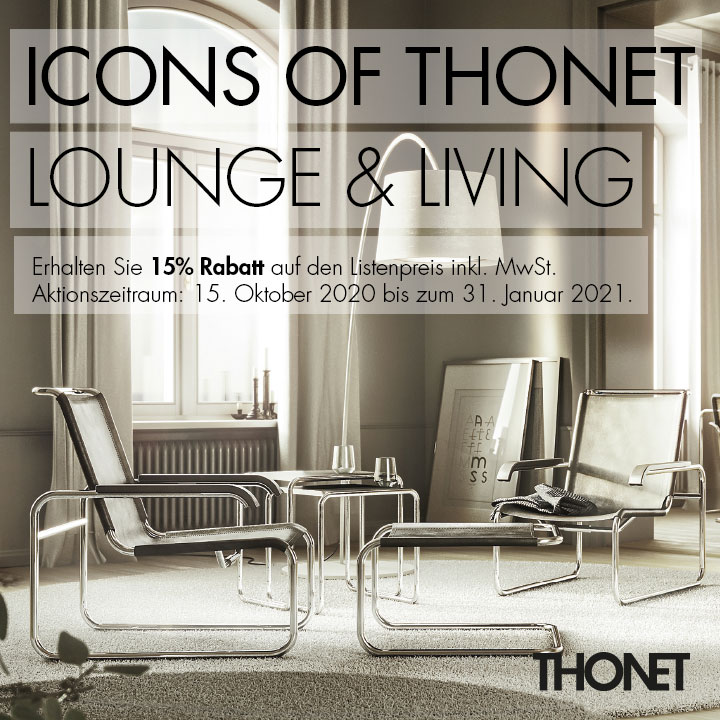"Aktion ""Icons of Thonet - Lounge und Living"""